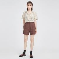 sand pintuck linen half pants (2 colors)_(606388)
