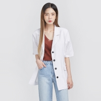 cutting collar 4 button half jacket (2 colors)_(606424)