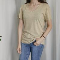 브이넥 린넨 티셔츠 (4-COLORS)