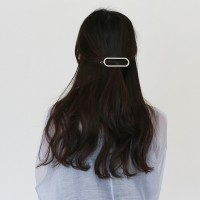 Oval pendant hair pin