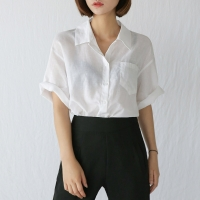 big collar linen shirts