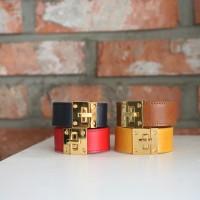 Handmade Square Leather Bracelet