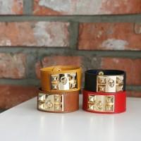 Handmade Statement Leather Bracelet