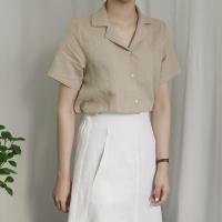카라 린넨 셔츠 (2-COLORS)