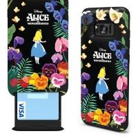 갤럭시S8/S8+ 디즈니정품 앨리스 카드슬롯 케이스 - 앨리스와 꽃