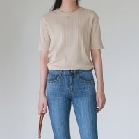 Simple golgi slim knit