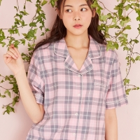 Romantic check pajama(L/pink) / RMPP726GM1