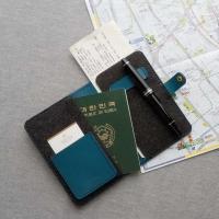 나의 가죽 여권 케이스(Leather & Felt)