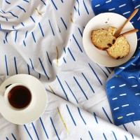 [Fabric] Blue stick & Gold 2in1 Pattern Oxford (블루스틱앤골드)