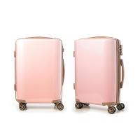 [르코마] 글로시 PC+ABS 기내용 하드 캐리어 - 핑크 20인치