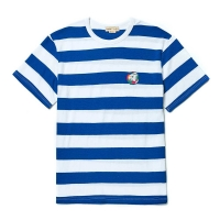 SUNSET DOG SUMMER STRIPE 1/2 T-SHIRT BLUE
