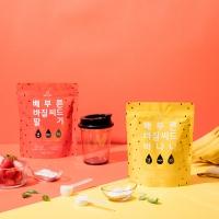 배부른 바질씨드 스무디 2종 (딸기+바나나, 4주분)