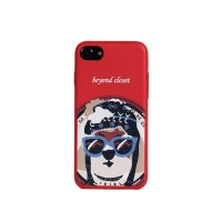 NORDIC SKI DOG  ARTIFICIAL LEATHER I PHONE 7 CASE