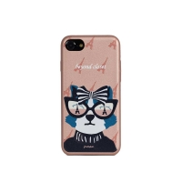 EIFFEL TOWER DOG ARTIFICIAL LEATHER I PHONE 7 CASE