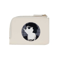 COCO DOG MINI CARD WALLET IVORY