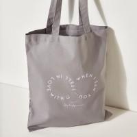 [Ro-Co Bag] 로맨틱 레터링 에코백(Gray) RMAK724GM1