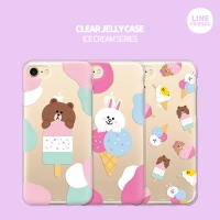 [LINE FRIENDS정품] 라인프렌즈 투명젤리 아이스크림 시리즈
