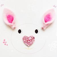 분홍펠트 동물 귀 2p