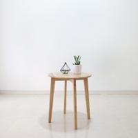 [스크래치] 원목 원형 사이드 테이블 L