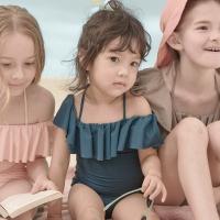 러플 유아 아동 여아수영복 (3color)