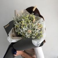 드라이플라워-시네신스 대형꽃다발