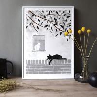 담장 위의 고양이 - poster