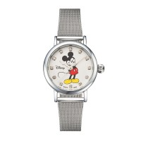 디즈니 미키마우스 여성 메탈밴드 손목시계 OW096SV