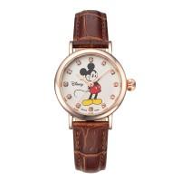 디즈니 미키마우스 여성용 가죽밴드 손목시계 OW096RG