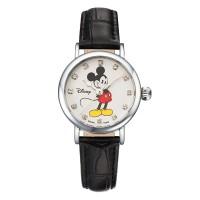 디즈니 미키마우스 여성용 가죽밴드 손목시계 OW096BK