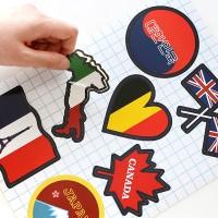 캐리어 스티커-국기아이콘