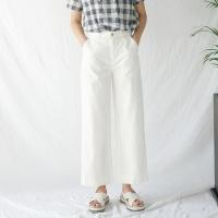 thin cotton wide pants