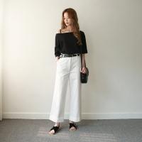 Cotton cabra wide pants