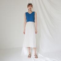 Linen banding skirt