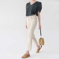Simple boots cut cotton pants