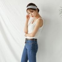 linen v-neck basic sleeveless