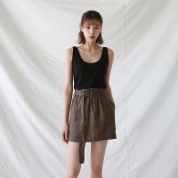 Waist band mini skirts