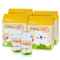 보령[아이순수]키즈톡톡 츄어블오메가3(45캡슐x2병) 3세트(3개월분)