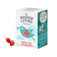 하이어리빙[HIGHER LIVING] 유기농 화이트티 스트로베리 TEA