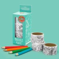 [원더스토어] 럭키스 색칠 마스킹 테이프 + 색연필_(905955)