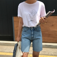 우먼 드로잉 티셔츠