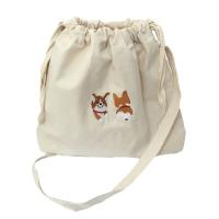 happy corgi bucket bag