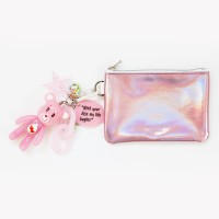 케어베어 b612 card/coin case wallet (pink)