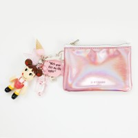 페코짱 b612 card/coin case wallet (pink)
