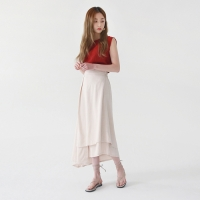 Unique long wrap skirt