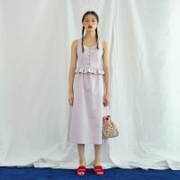Shirring Button Dress