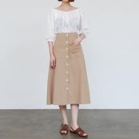 Daily a-line linen skirt