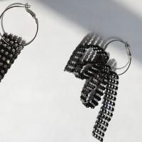 66 - black lace earring