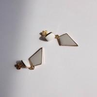 63 - lozenge shape drop earring