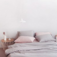 N 에스타도 천연염색 양면침구 - 베이지핑크&그레이 (더블/퀸)