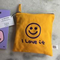[킵캄]smile pouch_yellow/m size